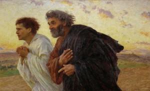 """Eugene Burnand - """"Pietro e Giovanni corrono al sepolcro all'alba"""""""