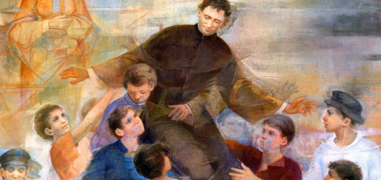 Don Bosco tra i suoi ragazzi